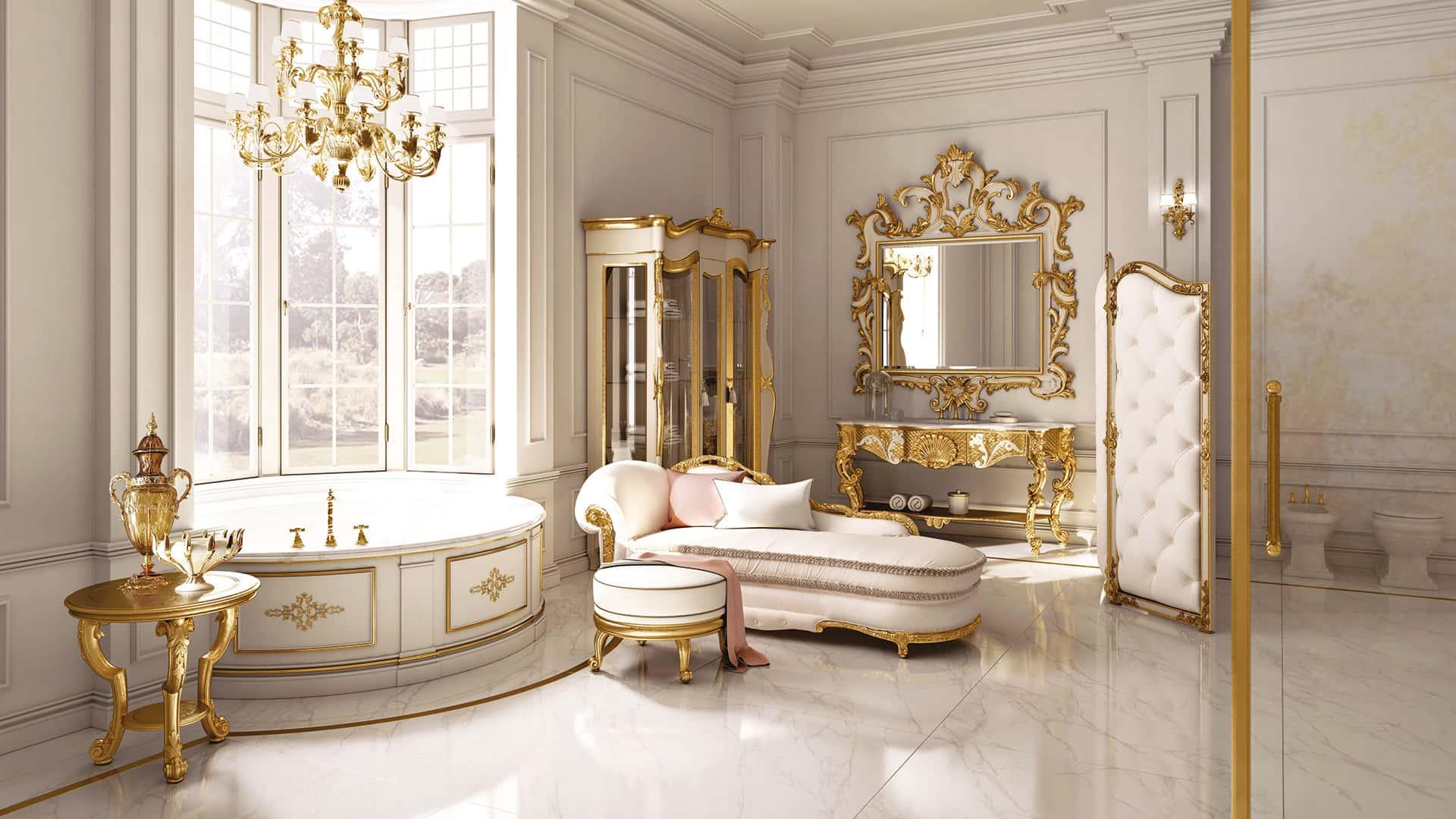 Andrea fanfani arredamento classico bagno in stile for Classica arredamento