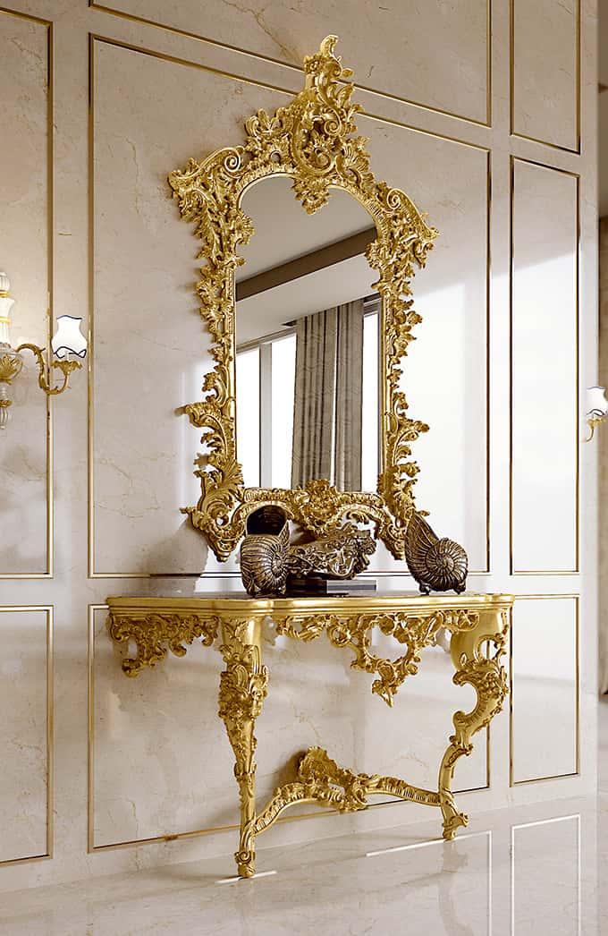 Arredamento classico di lusso per la zona giorno andrea for Arredamento classico di lusso
