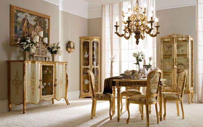 Arredamenti in stile andrea fanfani - Mobili per sala da pranzo classici ...
